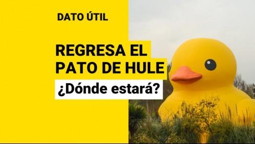 Vuelve el pato de hule: ¿Desde cuándo y en qué lugar de Santiago estará?