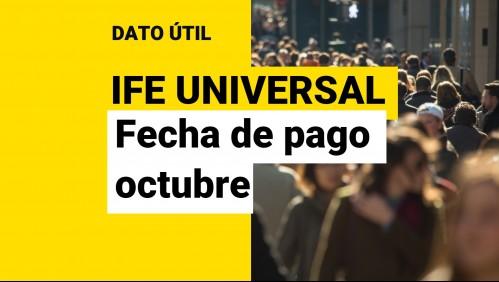 IFE Universal de octubre: ¿Cuándo comienza el pago del beneficio?