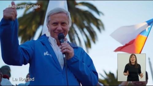 Revisa el estreno de la franja presidencial de José Antonio Kast