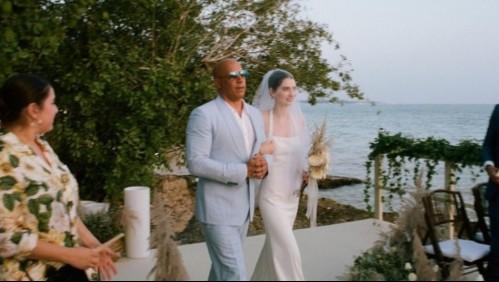 Hija de Paul Walker se casa y Vin Diesel la acompañó al altar